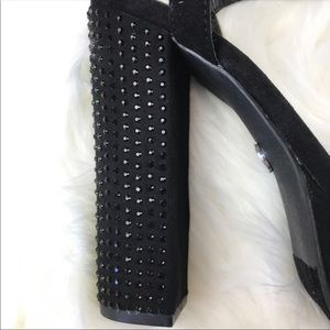 Juicy Couture Shoes - Juicy Couture Rhinestone Platform Heels Suede